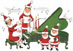 Santa piano